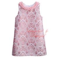 Wholesale Tutu Sellers Line - Pettigirl 2016 Hot Sellers Pink Girls Spring Vintage Dress Stylish Baby Jacquard Weave Dress Wholeasle Kids Clothes GD81024-125Z