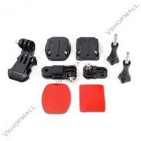 Wholesale Adhesive Mount For Gopro - GoPro Helmet Front Mount for Go Pro Hero 4 3 2 GoPro Accessories with Kit Adjustment Curved Adhesive Bracket J-Hook Buckle