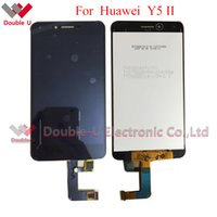 Wholesale Resistive Lcd Touch - Wholesale- 1pcs lot Original New LCD For Huawei Y5 II LCD Display Touch Screen Glass Digitizer Assembly White Gold in Free shipping