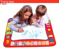 Wholesale Aquadoodle Drawing Mat Magic Pen - Hot 78X58cm Russian Kids Drawing Board With Magic Pen Painting Childs Drawing Mat Water Aquadoodle Mat Learning Painting Play Board SV013625