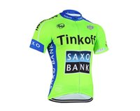 Wholesale Saxo Short Red Cycling - Saxo bank 2017 pro team tinkoff cycling jersey Ropa ciclismo short sleeve cycling clothing maillot ciclismo bicicleta bike clothing