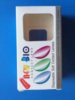 lentes para os olhos venda por atacado-Venda por atacado - Novo Bio DHL Frete Grátis / Alta Qualidade / Melhor Preço / 40pcs = 20pairs - Caixa de lentes de contato Novo Bio caso 3 tons de cores entre em contato com o olho.