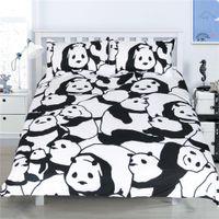 Wholesale Panda King Size Duvet Cover - Cute Panda Printed Bedding Set Queen Size 3pcs Chinese Cartoon Duvet Cover Twin Full King Kids Children Home Decor Brief Gift
