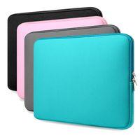 Wholesale 11 Inch Laptop Computers - New Soft Laptop Handbags Sleeve Bag Protective Zipper Notebook Case Computer Cover for 11 13 15 15.6 inch For Laptop Notebook