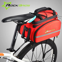 pack saddle panniers - ROCKBROS Cycling Rear Saddle Pack Bag Bicicleta Multi fonction Bags Bike Bicycle Rear Carrier Bags Rear Pack Trunk Pannier