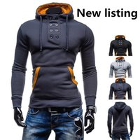 Wholesale Loose Turtleneck Hoodie - High Quality Men's Fashion Casual Hoodies Slim Cardigan Assassin Creed Hoodies Shigh collar hoodie weatshirt Outerwear Jacket SizeM L XL XXL