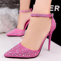 Wholesale two piece heels - Drop shipping New style Women shoes Two-Piece Pointed Toe Pumps shoes Fashion High Heel Shoes Women wedding shoes