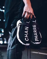 Wholesale Dark Cloud - NMD MAFIA HUMAN RACE Pharrell Williams Running Shoes with BODY EARTH BREATHE MOOD CLOUDS WALK Character Sneakers with box