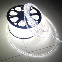 Wholesale Led Tube Flex - 100M Led 2-wire Round Rope Light LED Flex Rope Light PVC LED Light LED Strips Indoor Outdoor LED Flex Tube Disco Bar Pub Christmas Party