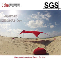 Gros-HOT Sea Beach CampingTent bâche Parasol gonflable Shelter canopy Sable Anchor Carry Bag Canopy Rain Protect Portable 2 Pôle
