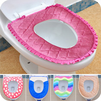Wholesale Washable Toilet Seat Warmer - Warmer Toilet Washable Cloth Seat Cover Pads Lycra Use In O-shaped Flush Toilet