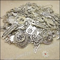 Wholesale New Design Hot Vintage Antique Silver charm Mixed g Alloy Pendant DIY for bracelet necklace jewelry making