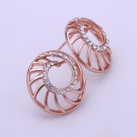 Wholesale Costume Jewelry Accessories Cheap - Cheap Price Fashion Summer Style Stud Earrings For Women Crystal Earrings Bijoux 18K Rose Gold Plated Costume Jewelry Accessories Love F0109