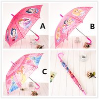 Wholesale Kids White Umbrella - Snow White Princess Umbrella Children Kids Umbrellas Frozen Elsa Sofia Long Handle Umbrella for Christmas Gifts