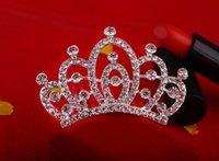 Wholesale Trinket Wholesale China - Crown Princess tiara headdress plate made small child dance crowns trinkets