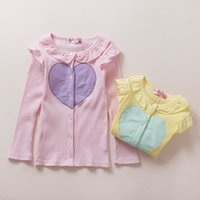 Wholesale Love Pink Clothing Sweaters - girls sweet autumn spring thin love coat cardigan children sweaters kids clothes fashion pink yellow bc166