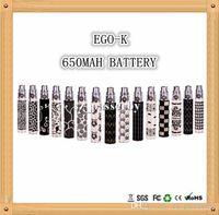 Wholesale E Cig Engraved Battery - EGO K Series E Cigarette Battery Engraved 650mAh 900mah 1100mah 510 Screw Thread Electronic Cigarette E Cig For CE4 CE5 Atomizer DHL