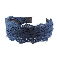 ширина оголовья оптовых-2017 Женская мода ювелирные изделия синий кружева вышивка ткань ширина все Матч полые оголовье женские повязки Оптовая