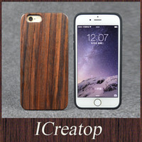 Wholesale Wood Iphone Bumper - Luxury return Dyu rosewood matte TPU cases for iPhone6 6s 6 6splus hard wooden cellphone silicone Protective Bumper wood cover tpu cases