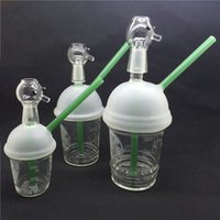 Wholesale Ego Bright - HOT Starbuck Cup Opaque Bright green dab concentrate oil rig glass bong glass dome pipes ego cigarette water pipe hookahss