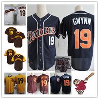 Wholesale Tony Short - Mens Tony Gwynn Retirement Jerseys navy blue white Stitched Tony Gwynn Throwback baseball Jersey S-3XL