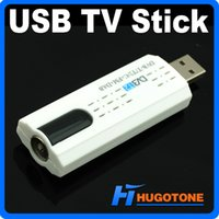 Wholesale Digital Satellite Usb Tv Tuner - USB 2.0 TV Stick Tuner Digital Satellite DVB-T2 With Antenna Remote Control HD TV Receiver for DVB-T2 DVB-C FM DAB