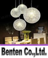 ingrosso ha condotto la sfera chiara-llfa798 LED di trasporto libero sfera di cristallo lampada lampadario soggiorno luci ristorante bar sfera creativa lampadario sala da ballo lampadario