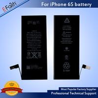 ion telefonlar toptan satış-Yüksek kaliteli pil Dahili Dahili Li-ion telefon Yedek Pil iphone 6 s / 6 Ücretsiz UPS Kargo
