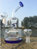Wholesale Pictures Dolphins - 9 inches Exquisite Dolphin Glass Water Pipes with Honeycomb Oil Rigs Bong Sale On Line Shop Real Pictures Glass Water Hookah