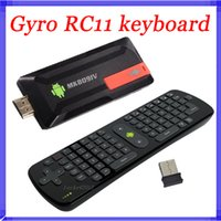 ingrosso mouse di tastiera del bluetooth android-2.4Gzh Measy RC11 Air Fly Gyro Mouse Tastiera MK809IV RK3188 Android TV Box Quad Core Mini PC A9 1.8Ghz Bluetooth 2G / 8G MK809 IV