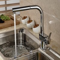Wholesale Square Vessel Faucet - Wholesale And Retail Brand NEW Pull Out Chrome Brass Kitchen Faucet Vessel Sink Mixer Tap Square Handle Deck Mounted