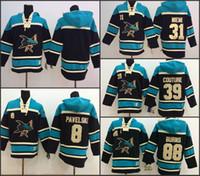 Wholesale Couture Hoodie - San Jose Sharks Hoodie 19 Joe Thornton 39 Logan Couture 88 Brent Burns 8 Joe Pavelski Old Time Hockey Jersey Hoodies Sweatshirt stiched