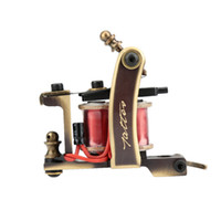 Wholesale Tattoo Liner Diy - Complete Tattoo Kits Rotary Tattoo Machine Sets Handmade Pure Copper Shader Liner Gun 8 Wrap Coils Body DIY Tools