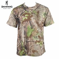 Wholesale Browning Tee Shirts Hunting - Wholesale-Quick-drying BROWNING T-Shirt for Men,APG CAMO Camping jersey,Hunting T shirt summer ,hunting TEE shirts