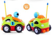 Cartoon R / C Race Car super et adorable Jouets multicolores pour enfants Radio Control Vehicles Make sound Télécommande voiture