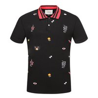 Wholesale Polo Original - The original Italy polo t-shirt design brand, hip hop fashion crime print burlon Marcello, the high quality of the Medusa,#1130 tenterhooks