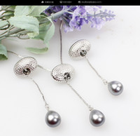 Wholesale Simple Wedding Necklace Earrings - Fashion Classic Wedding Pearl Drop Necklace Earrings Set For Women Bridal Simple Vintage Jewelry set Party Dress Accessories