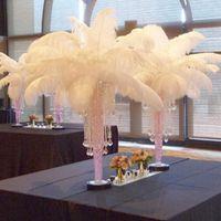 düğün orta etekleri için devekuşu tüyleri toptan satış-Büyük Devekuşu Tüyler Masa Centerpieces Düğün Centerpiece Devekuşu Tüyler Masa Centerpiece Olay Dekorasyon Parti Malzemeleri için Plume