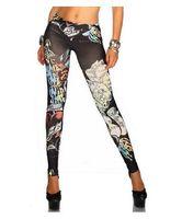 ingrosso guarda i jeans-East Knitting SPEDIZIONE GRATUITA A61 Jeans da donna alla moda sembrano pantaloni neri leggings di jeans da donna tatuaggio