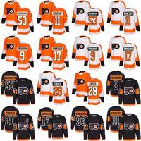 Wholesale Purple Flyer - #28 Claude Giroux 88 Eric Lindros 2018 men Philadelphia Flyers 53 Shayne Gostisbehere 17 Wayne Simmonds 11 Konecny 93 Voracek Hockey Jersey