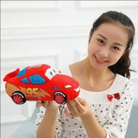 Wholesale Thomas Car Cartoon - The 25 cm lovely Thomas small Car Thomas cartoon plush doll a children's Day gift plush toys and gifts