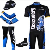 Wholesale Cycling Team Discovery - 5 Pieces lot 2015 team Discovery pro bike jersey Shorts set MTB Cycling jersey bike bib shorts+3d gel pad maillot ciclismo cycling clothing