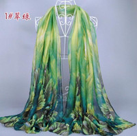 Wholesale Mixed Scarves For Women - 2015 Fashion Korean Scarf For Winter Lady's Floral Pattern Voile Ink Jet Style Mix Colors 02321