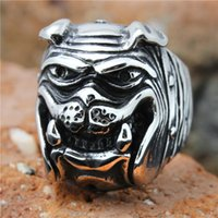 Wholesale Tungsten Cool - 1pc Hot Selling Human Friend Cute Dog Ring 316L Stainless Steel Popular Punk Cool Man Boy Dog Ring