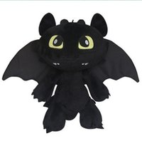 Atacado-Frete Grátis 2015 How To Train Your Dragon 2 Fúria da Noite Plush Toy 30CM Dragão desdentado Stuffed Plush Toy animal Dolls