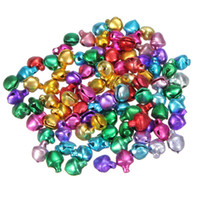 Wholesale Wholesale Small Bells - Hot Sale 1000Pcs lot Colorful Iron Loose Beads Small Jingle Bells Christmas Decoration Pendants DIY Crafts Handmade Accessories