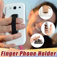 parmak tutamağı toptan satış-Sling Kavrama Sling Kauçuk Slinggrip Parmak Tutucu Kolu Arka Sticker tek El Elastik bant Anti Kayma Kemer Iphone 8 6 s 7 Samsung S6 S8