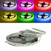 LED Strips 5m set 5630 5050 3528 SMD 60led LED Strip Light Impermeable Flexiable LED Strips 300LED Cool Pure Warm White Red Blue
