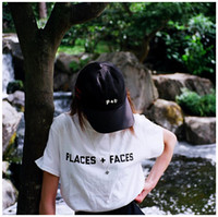 Wholesale Face Golf - 2017 fashion hiphop Places + Faces Embroidery Cross LOGO P+F Cap in black White chance the rapper golf dad hat