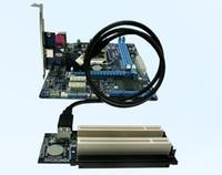 adaptador de doble ranura al por mayor-PCI-express x1 PCIe A 2 PCI Router Adaptador Doble ranura PCI Tarjeta vertical Get Tow PCI